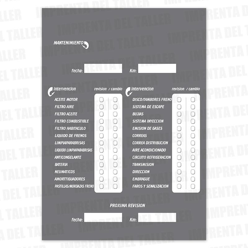Producto Libro de Mantenimiento, 17 revisiones - vista 3
