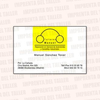 Tarjetas de Visita y Calendarios (frontal) – modelo 1