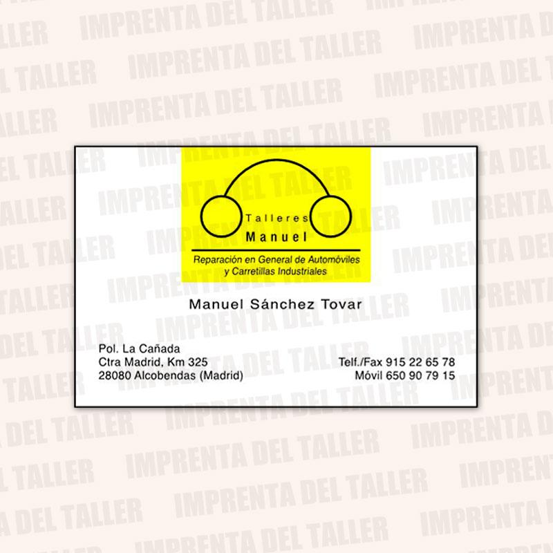 Producto Tarjetas de Visita y Calendarios (frontal) - modelo 1