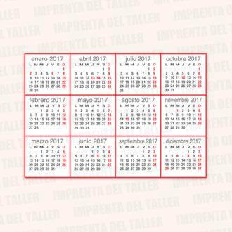 Tarjetas de Visita y Calendarios 2017 (trasera)
