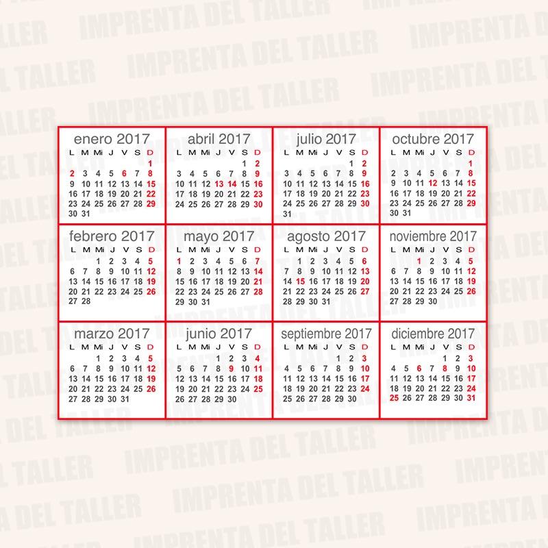 Producto Tarjetas de Visita y Calendarios (trasera)