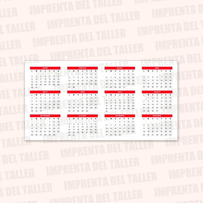 Producto Tarjetas de Visita y Calendarios
